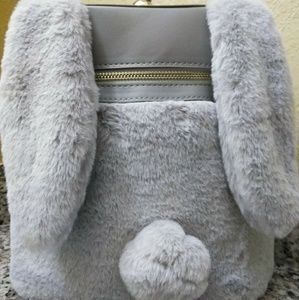 Handbags - Grey soft bunny bag